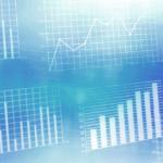 Blue data graph image_no text